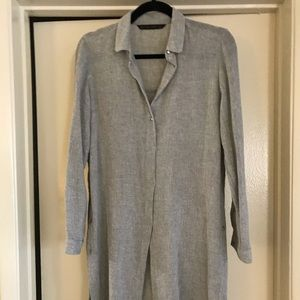 Zara wool tunic blouse.